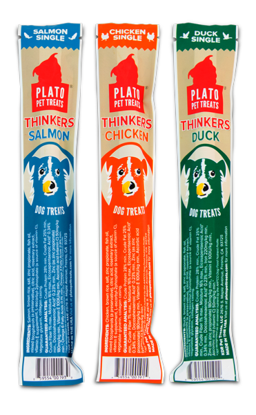 Plato Pet Treats Plato Thinkers Real Sticks Chicken Recipe Single .63oz
