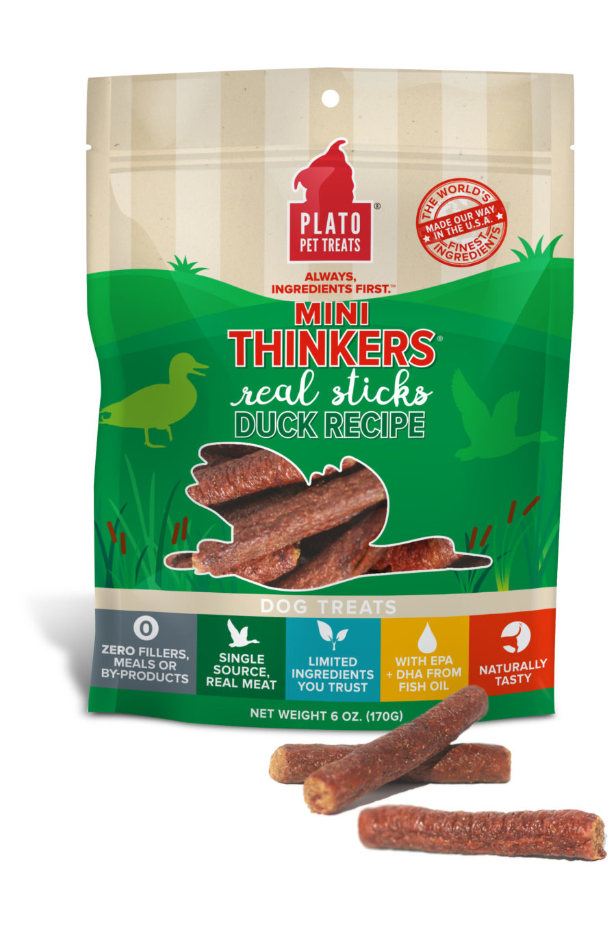 Plato Pet Treats Plato Mini Thinkers Duck Recipe