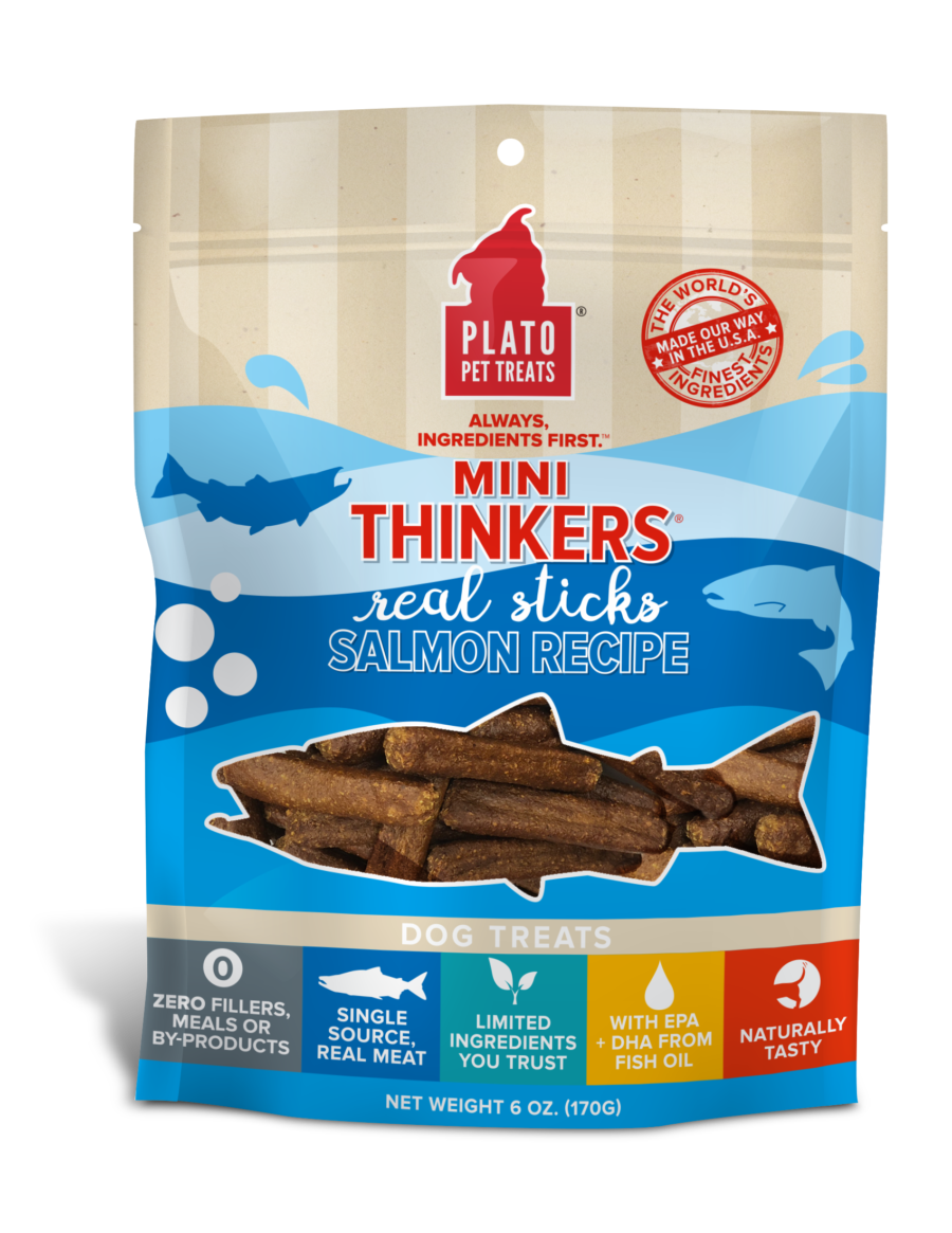 Plato Pet Treats Plato Mini Thinkers Salmon Recipe