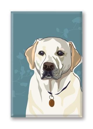 Paper Russells Labrador, Yellow Fridge Magnet