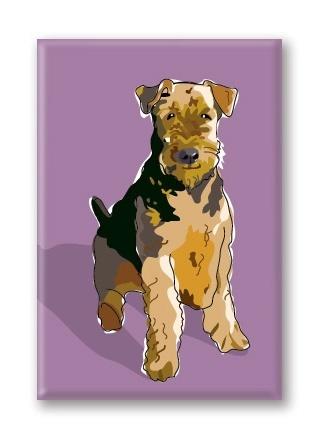 Paper Russells Airedale Terrier, Fridge Magnet
