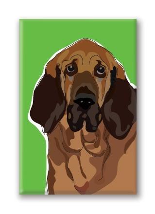 Paper Russells Bloodhound, Fridge Magnet