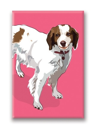Paper Russells Brittany, Fridge Magnet