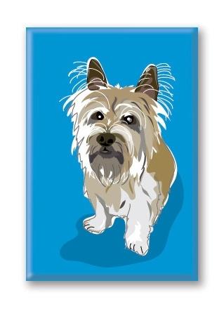 Paper Russells Cairn Terrier, Fridge Magnet