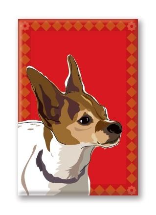 Paper Russells Chihuahua, Profile Fridge Magnet
