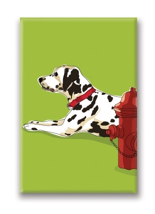Paper Russells Dalmation, Fridge Magnet