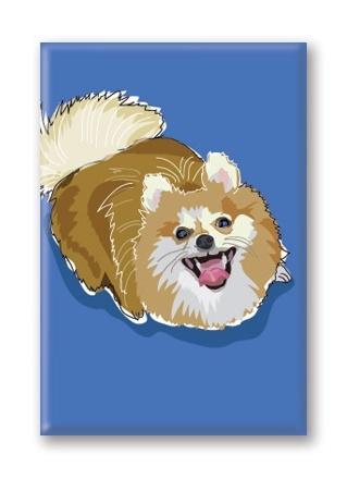 Paper Russells Pomeranian, Fridge Magnet