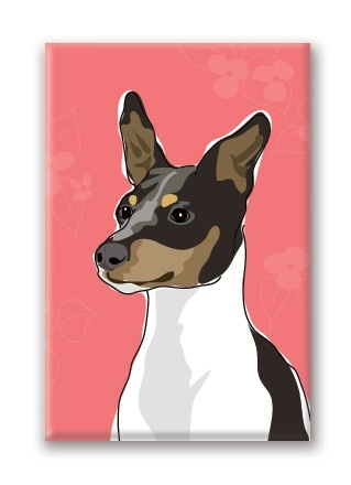 Paper Russells Rat Terrier, Fridge Magnet