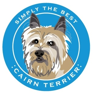 Paper Russells Simply The Best Cairn Terrier Car Magnet