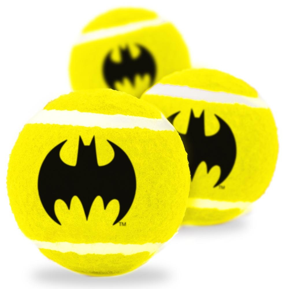 Buckle Down Buckle-Down Batman Bat Icon Squeaky Tennis Ball, 3 pack