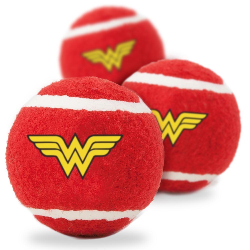 Buckle Down Buckle-Down Wonder Woman Logo Squeaky Tennis Ball, 3 pack