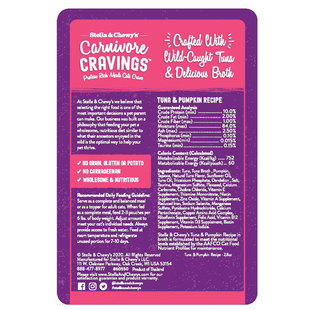 Stella & Chewys Stella & Chewy's Carnivore Cravings Tuna & Pumpkin Recipe