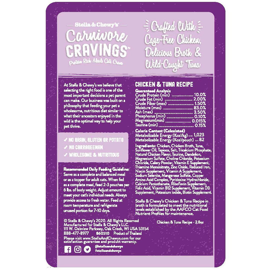 Stella & Chewys Stella & Chewy's Carnivore Cravings Chicken & Tuna Recipe