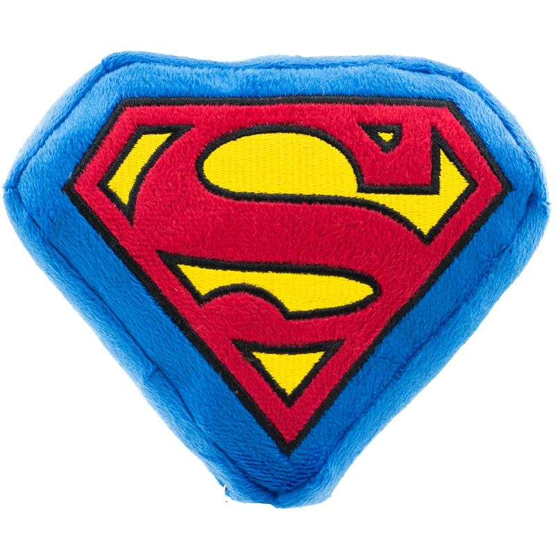 Buckle Down Buckle-Down Superman Shield Blue Squeaky Plush
