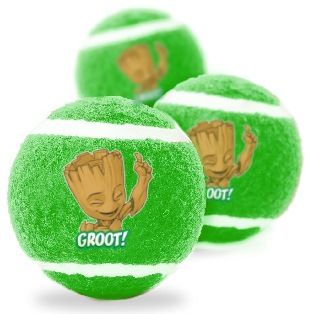 Buckle Down Buckle-Down GROOT! Squeaky Tennis Ball, 3 pack