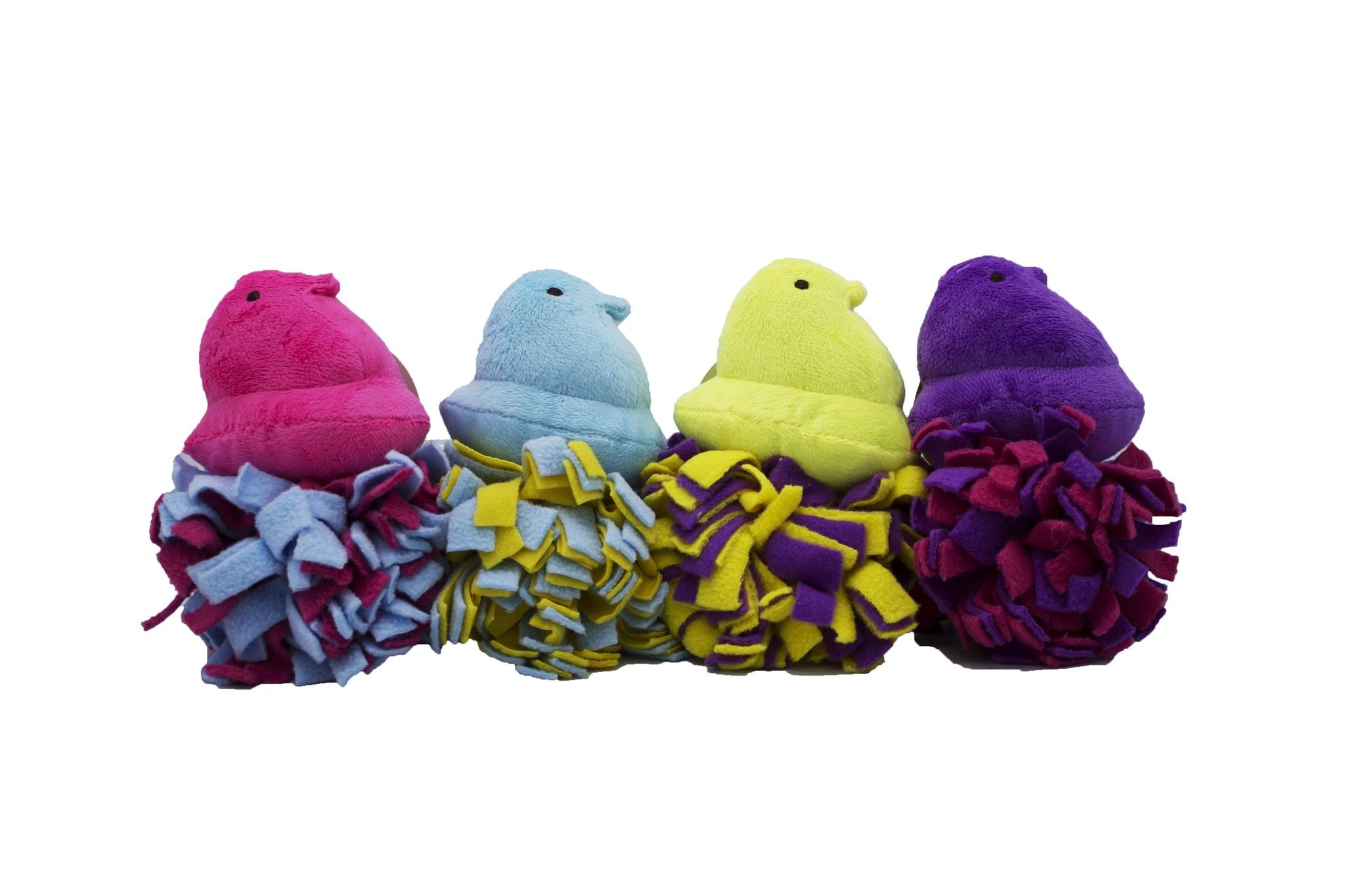 Fetch For Pets Fetch For Pets Peeps Chick Toy Fleece Bottom Plush Asst Colors