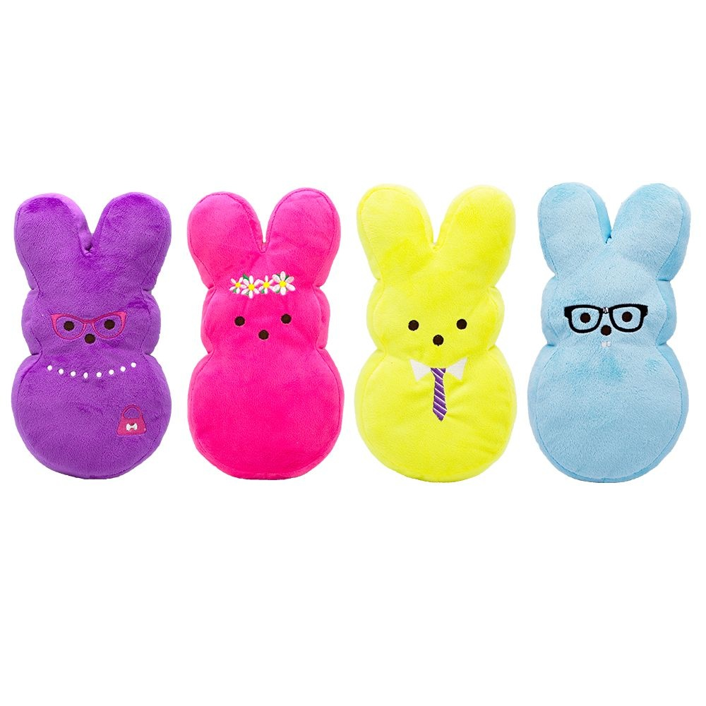 """Fetch For Pets Fetch For Pets Peeps Dressed Up Bunny 6"""" Asst Colors"""