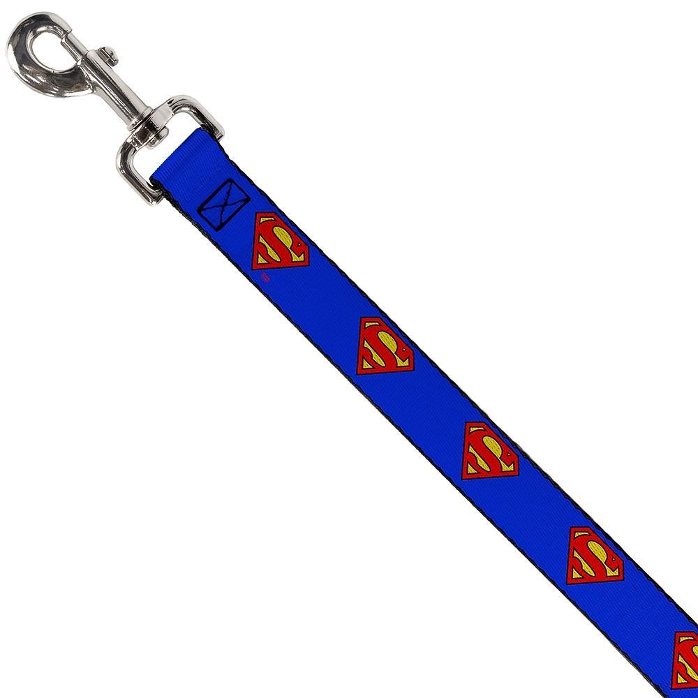 "Buckle Down Buckle-Down Superman Shield Blue Leash 4 Ft 1""W"