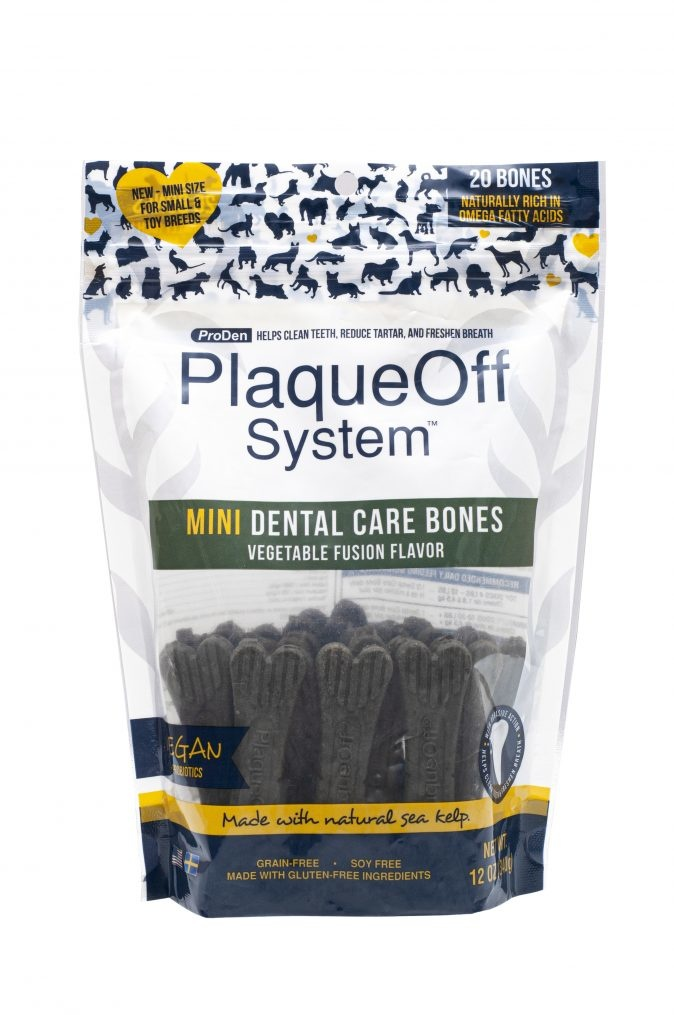 PlaqueOff Proden PlaqueOff System Dog Dental Care Bones Mini Vegetable Fusion, 17oz bag