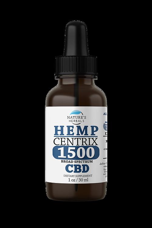 Nature's Herbals Nature's Herbals Hemp Centrix Pure Hemp Extract Broad Spectrum CBD 1500mg