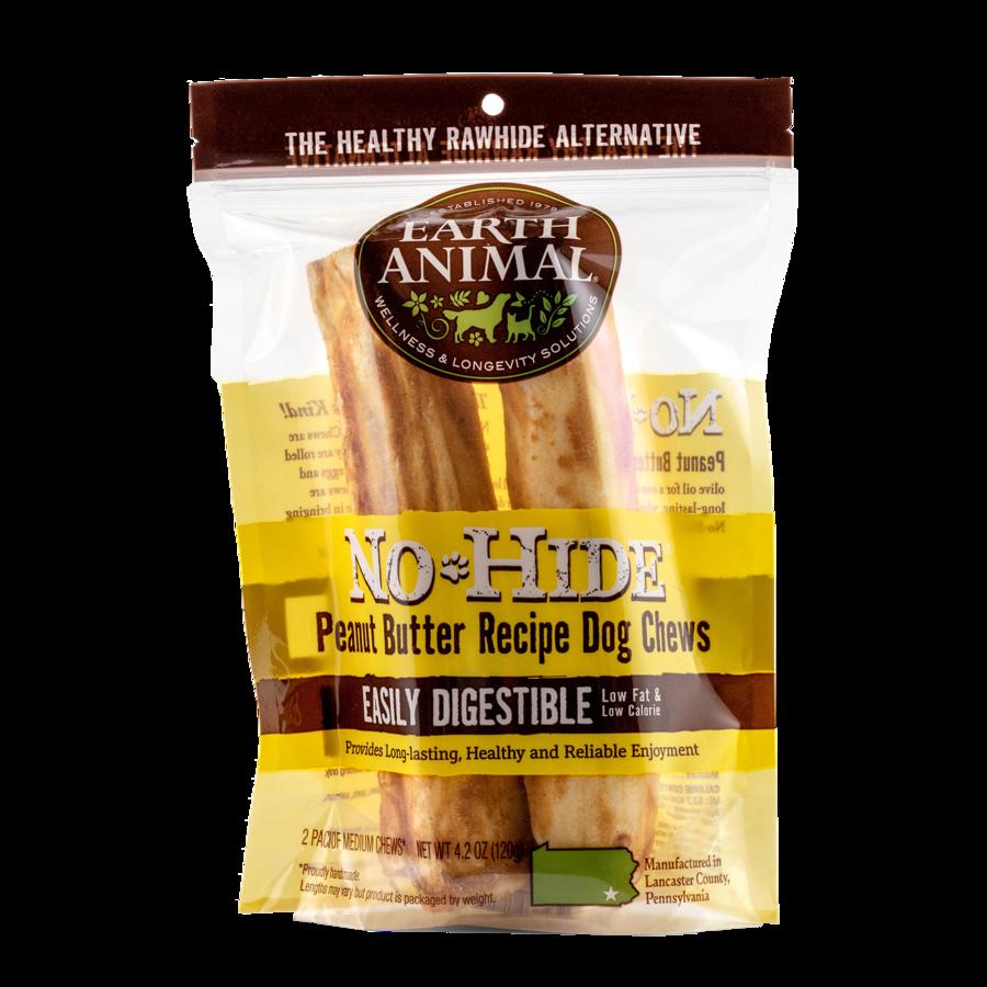 "Earth Animal Earth Animal No Hide Peanut Butter Chew Medium 7"" 2 Pack"