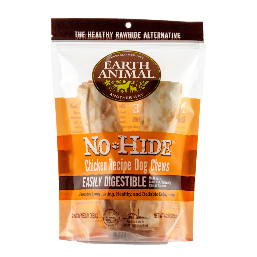 "Earth Animal Earth Animal No Hide Chicken Chew Medium 7"" 2 Pack"