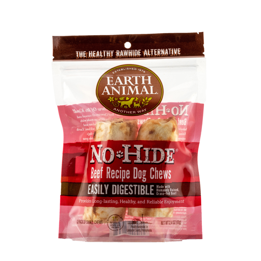 "Earth Animal Earth Animal No Hide Beef Chew Small 4"" 2 Pack"