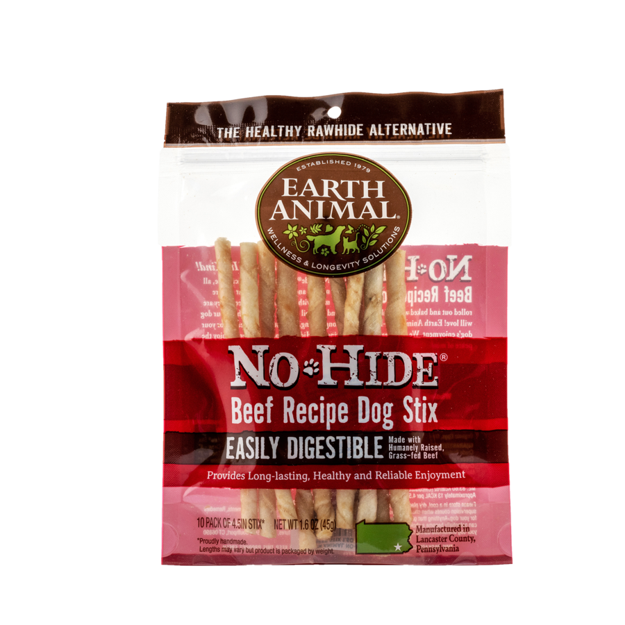 Earth Animal Earth Animal No Hide Beef Stix 10 Pack