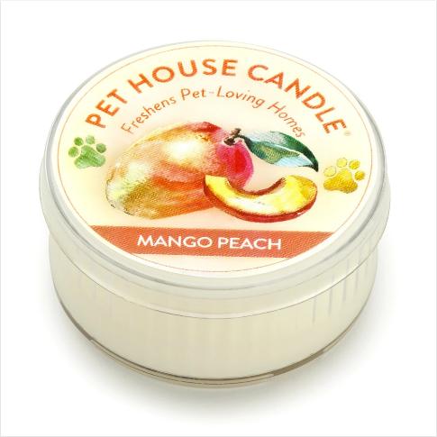 One Fur All Pet House Candle Mini Mango Peach 1.5oz