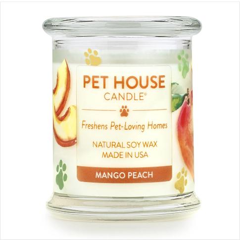 One Fur All Pet House Candle Mango Peach 8.5oz