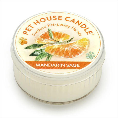 One Fur All Pet House Candle Mini Mandarin Sage 1.5oz