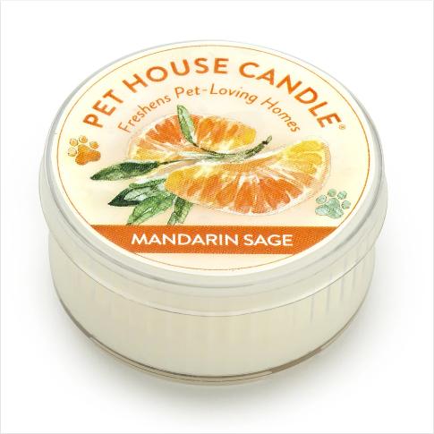 One Fur All Pet House Candle Mini Mandarin Sage 1.5oz