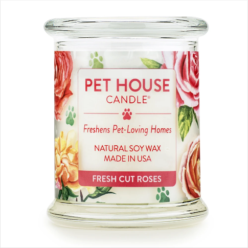 One Fur All Pet House Candle Fresh Cut Roses 8.5oz