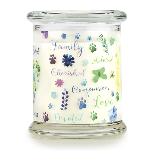 One Fur All Pet House Furever Loved Memorial Candle 8.5oz