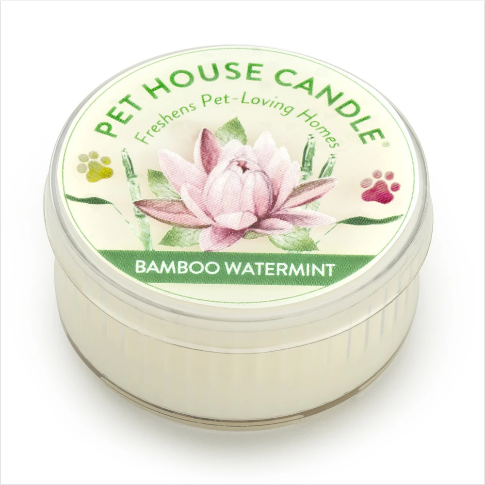 One Fur All Pet House Candle Mini Bamboo Watermint 1.5oz