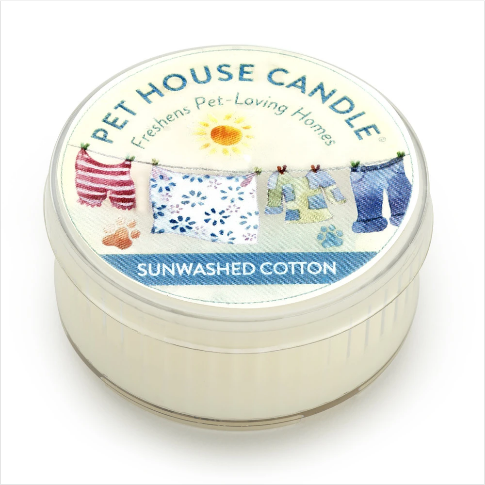 One Fur All Pet House Candle Mini Sunwashed Cotton 1.5oz