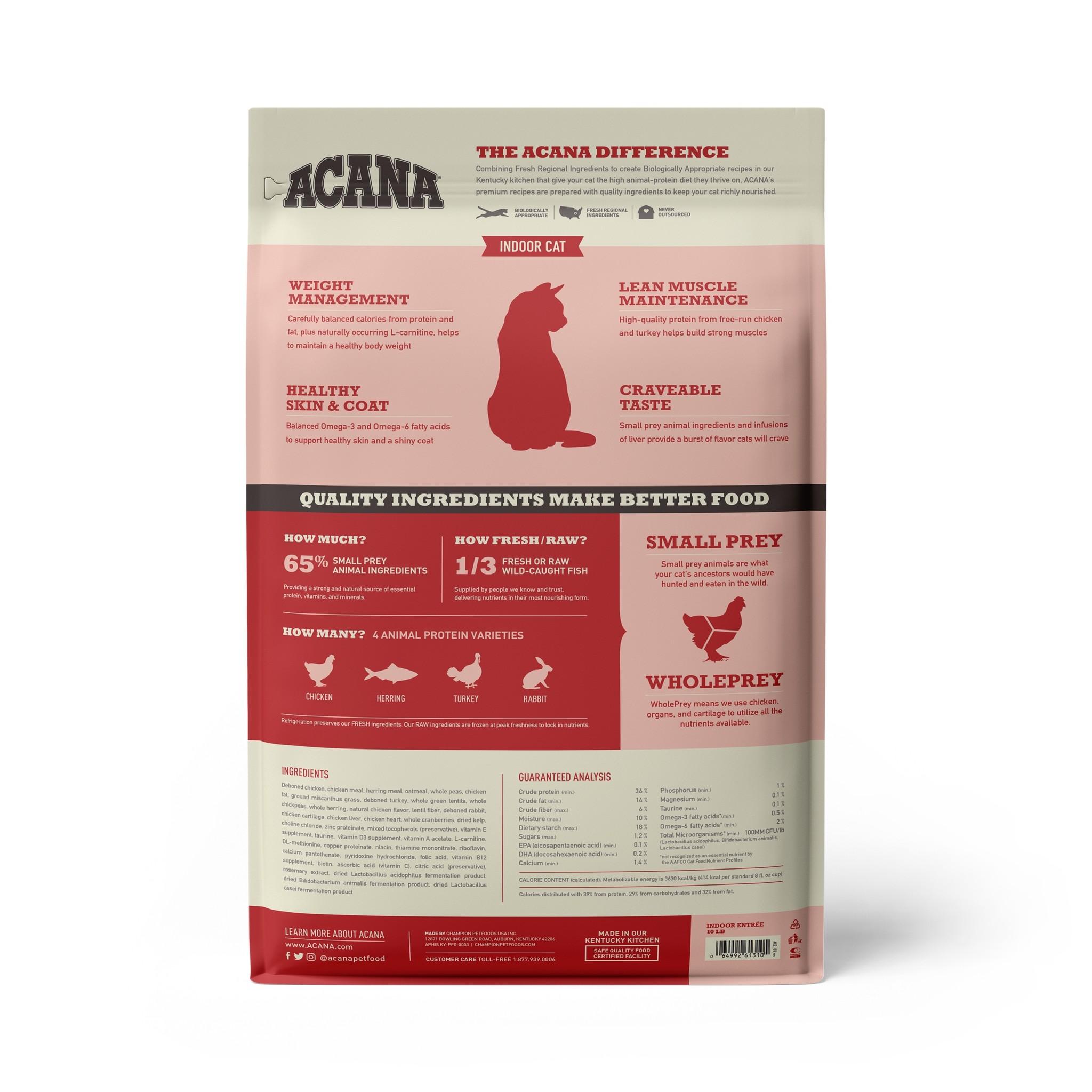 Acana Acana Indoor Entree For Cats