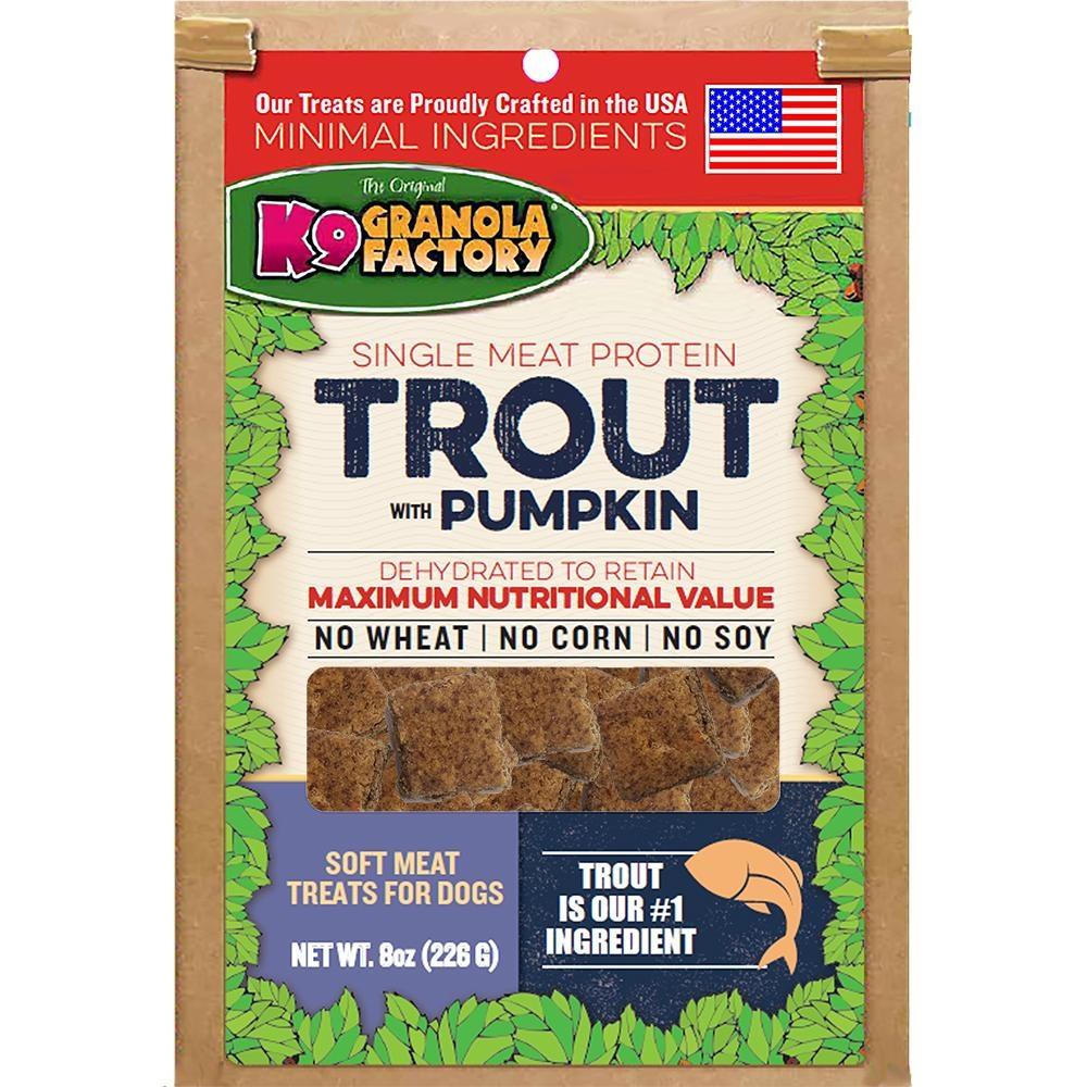 K9 Granola Factory K9 Granola Dehydrated Meat Trout & Pumpkin 8oz
