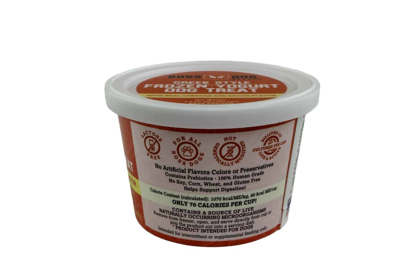 Boss Dog Boss Dog Greek Style Frozen Yogurt with Cheddar and Bacon 3.5oz - 4 Pack