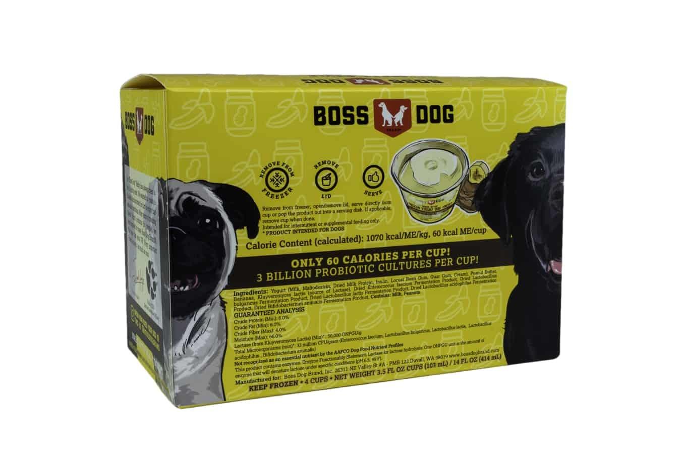 Boss Dog Boss Dog Greek Style Frozen Yogurt with Peanut Butter and Banana 3.5oz - 4 Pack