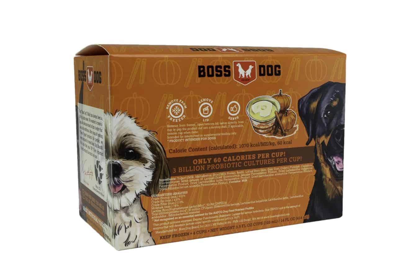 Boss Dog Boss Dog Greek Style Frozen Yogurt with Pumpkin and Cinnamon 3.5oz - 4 Pack
