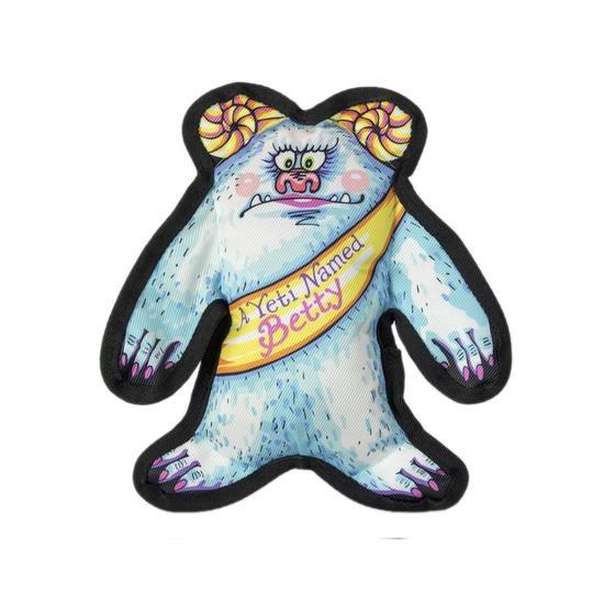 Fuzzu Fuzzu Wild Woodies A Yeti Named Betty Dog Toy with Squeaker