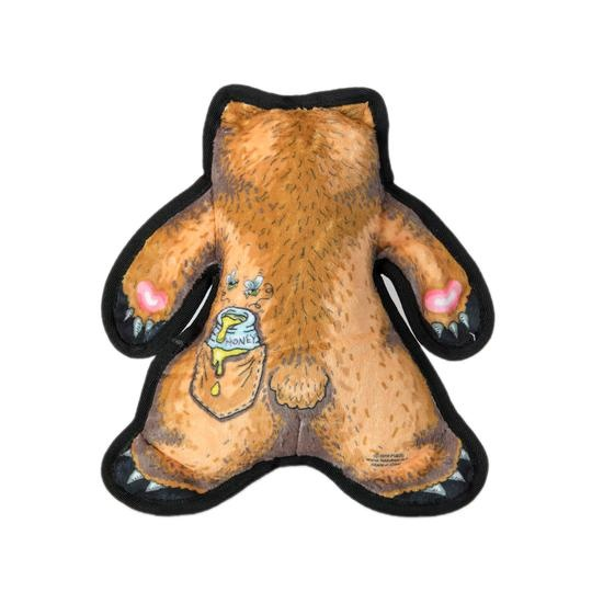 Fuzzu Fuzzu Wild Woodies A Bear Named Pierre Dog Toy with Squeaker