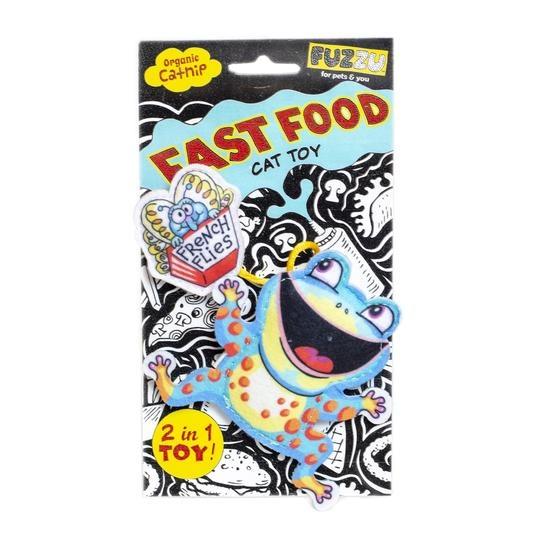 Fuzzu Fuzzu Fast Food Frog & French Flies with Organic Catnip