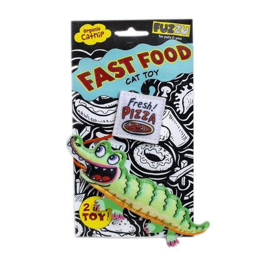 Fuzzu Fuzzu Fast Food Gator & Pizza with Organic Catnip