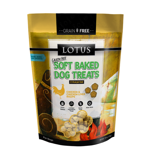 Lotus Pet Foods Lotus Grain Free Soft Baked Chicken & Chicken Liver Recipe 10oz