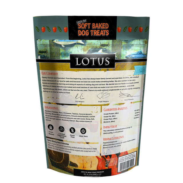 Lotus Pet Foods Lotus Grain Free Soft Baked Sardine & Herring Recipe 10oz