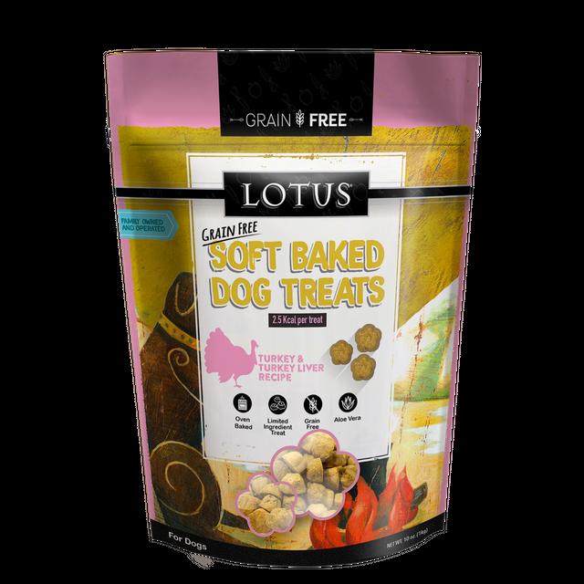 Lotus Pet Foods Lotus Grain Free Soft Baked Turkey & Turkey Liver Recipe 10oz