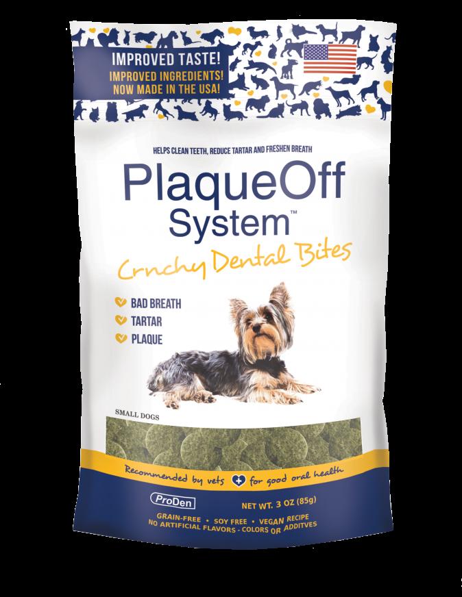 PlaqueOff Proden PlaqueOff System Crunchy Dental Bites For Small Dogs, 3oz bag