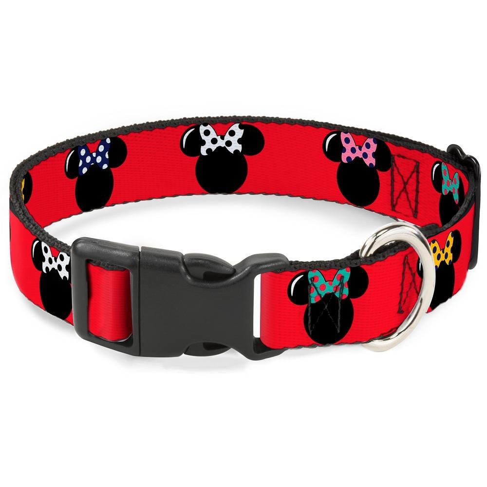 Buckle Down Buckle-Down Disney Minnie Mouse Silhouette Plastic Clip Collar